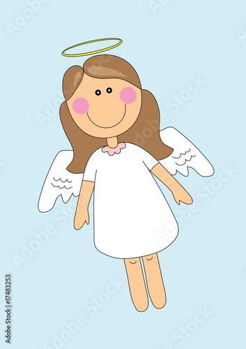 Leinwanddruck Bild cute angel girl