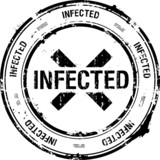 vector stamp, infected poster