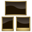 Vector set of aged photo frames isolated on white