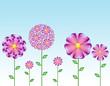 fondo sencillo con flores fantasia