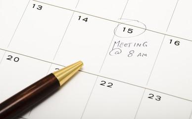 Business Meeting on Calendar
