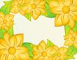 hermoso marco con flores amarillas