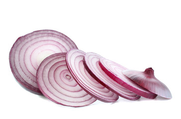 red onions,isolated.