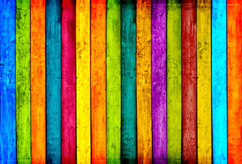 Colorful Wood Planks Background © Vidady