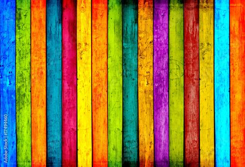 Kolorowy drewno zaszaluje tło