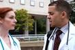 Doctors outside conference tilt