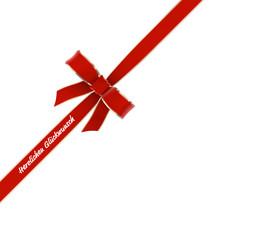 Schleife / Geschenkband Herzlichen Glückwunsch