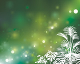 Green defocused natural background, vector layered. poster