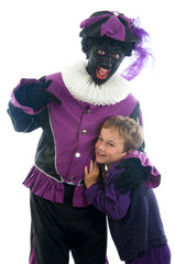 Zwarte Piet with child