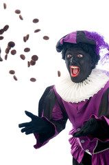 Zwarte Piet throwing ginger nuts