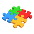 Colourful Puzzle Pieces
