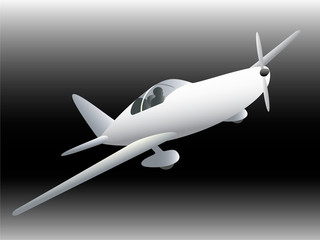 Sportive plane vector illustration.