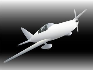 Sportive plane vector illustration.