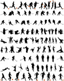 dance and sport silhouettes set