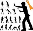 worker silhouette