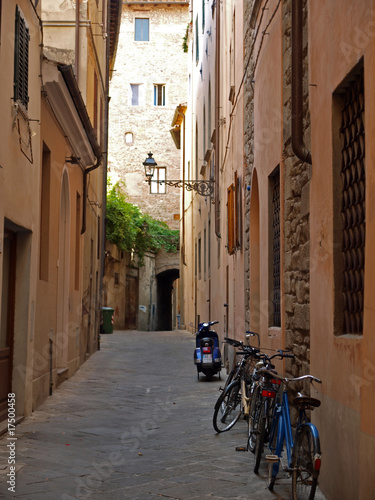 Picturesque street in antique center Pistoia