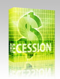 Recession Finance illustration box package poster