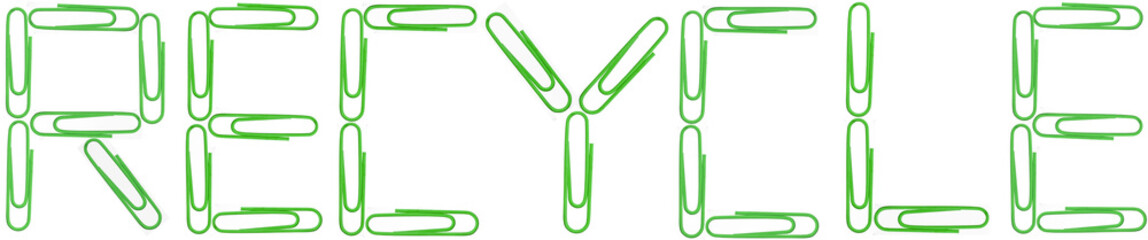 Recycle green paper clips