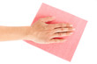 woman hand on wipe