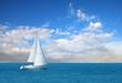modern sail boat - 17507240