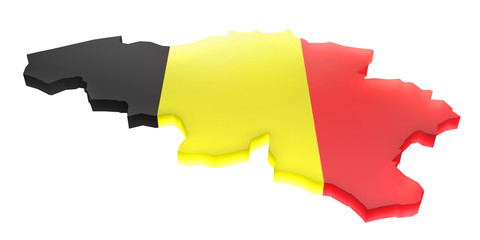 Map the Belgium