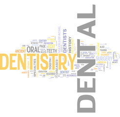 Dentistry related words collage