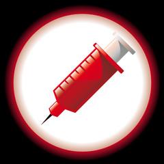 Icône de piqûre de seringue