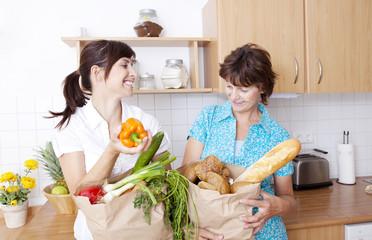 einkaufen küche