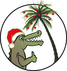 alligator x-mas