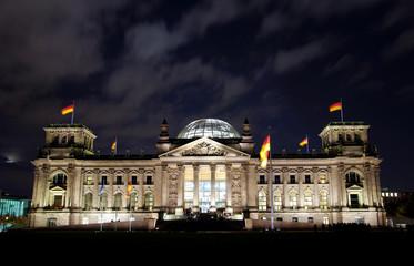 german berlin reichstag by night