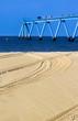 jetée vue du sable