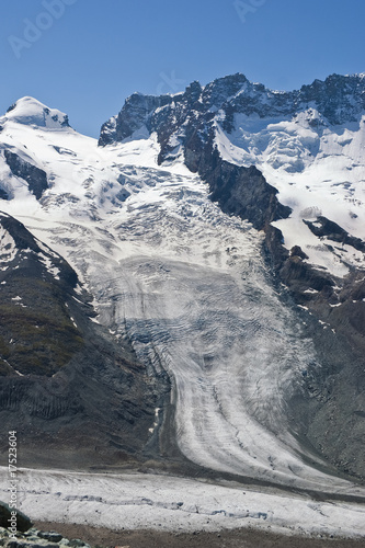 glacier at the Matterhorn in Switzerland