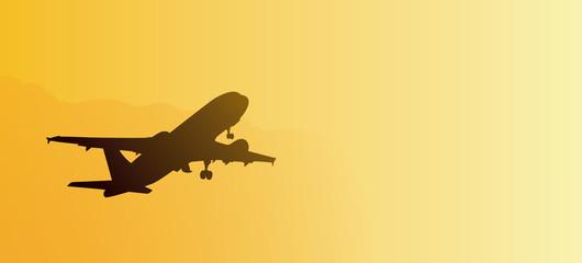 Avion pasajeros despegando