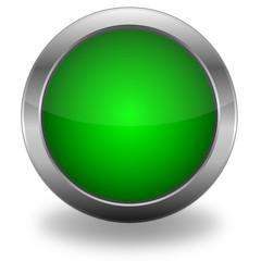 Green Glassy Vector Web Button