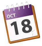 calendar october in vector mode poster