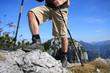 Leinwandbild Motiv Wandern - Gipfelstürmer