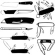 Knife Collage (vector)