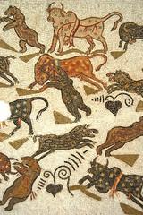 Animali in combattimento - Mosaico - dettaglio