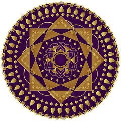 Elegant mandala with star of Lakshmi.