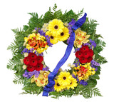 Floral Wreath with clipping path