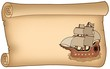 Parchment with old ship