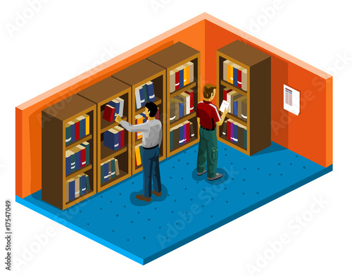 Library Isometric