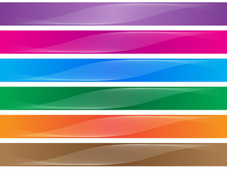 vector retro colorful banners