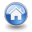 """Bottone azzurro con simbolo """"Home"""""""