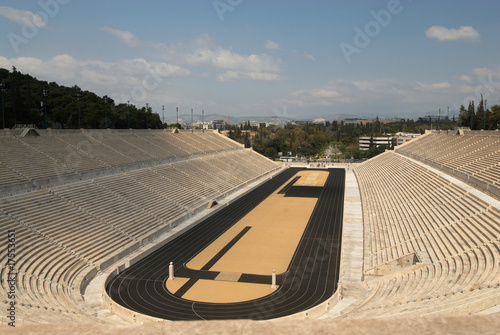 The panathenaic stadium in Athens, Greece