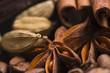 aroma coffe. ingredients. coffe beens, anise, vanilla, cardamon,