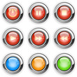 round media player buttons