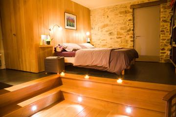 Luxurious wooden bedroom