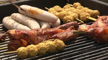 Meat on the barbecue