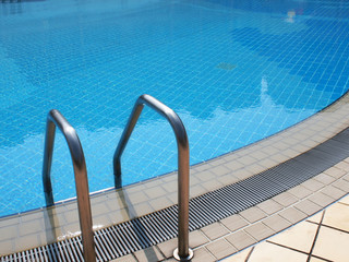 The poolside and handle